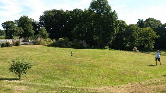Saint-Georges-de-Reintembault, France: Plenty of room for playing football