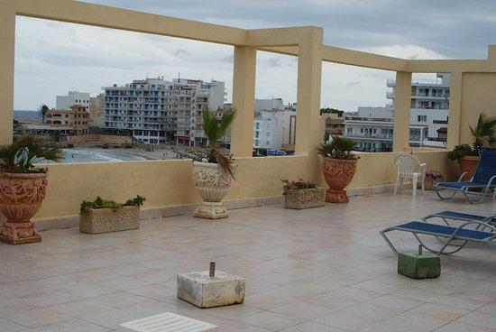 Hotel Peymar: Зона отдыха на крыше