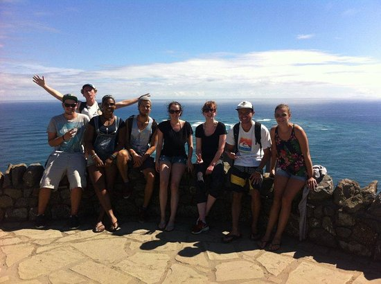 Kerikeri, New Zealand: some of the hostel visit Cape Reinga together