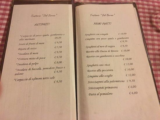 Santa Tecla, อิตาลี: Ristorante Trattoria Dal Barone