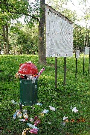 Lublin Province, Polen: Przy ruinach w Krupe