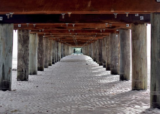 Rosebud, Australia: Under the jetty can be quite dry.