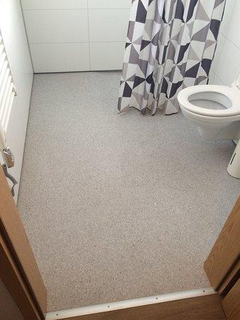 Hornafjorour, ไอซ์แลนด์: Bathroom can get wet easily after a shower.
