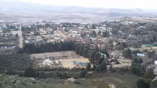 Clarens Eddies: Clarens from top of the mountain