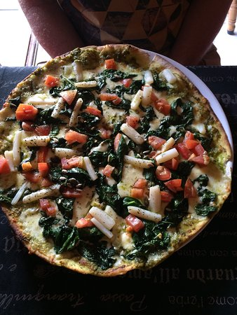 Wilderness, South Africa: Pizza mit Spargel