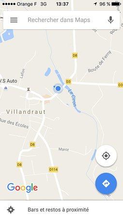 Villandraut, Fransa: Plan accès