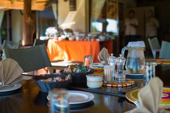 Inyati Game Lodge: Al fresco dining