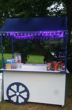 Montoursville, PA: Ice Cream Cart built for wedding reception. Filled with Eders Ice Cream!