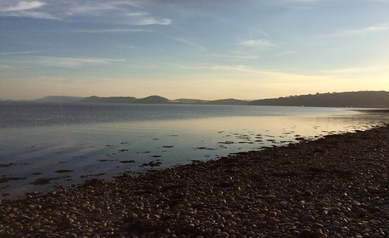 Fortrose, UK: the bay we looked out at from our pitch