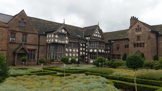 Salford, UK: Ordsall Hall across the gardens