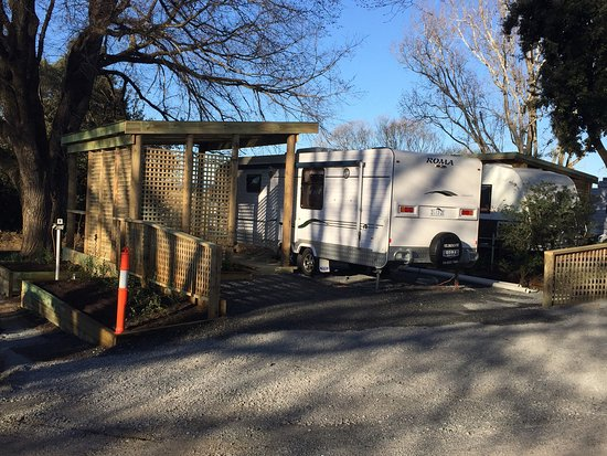 Longford Riverside Caravan Park: New onsite caravan and deck ready for spring