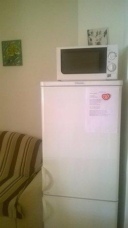 Razanac, Kroatië: Frigo con congelatore spaziose, microonde