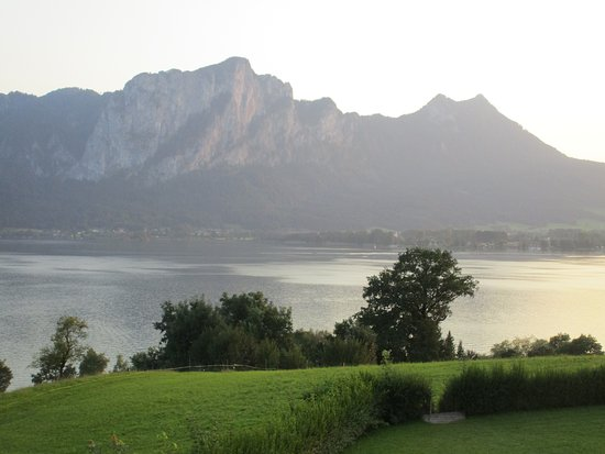 Mondsee, Austria: Blick von der Restaurant-Terrasse
