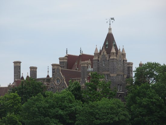 Boldt Castle and Yacht House: view from the Boat House shuttle