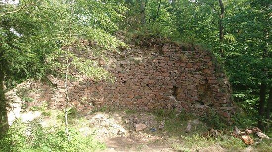 Nasavrky, Czech Republic: Zbytek zdi a ohniště.