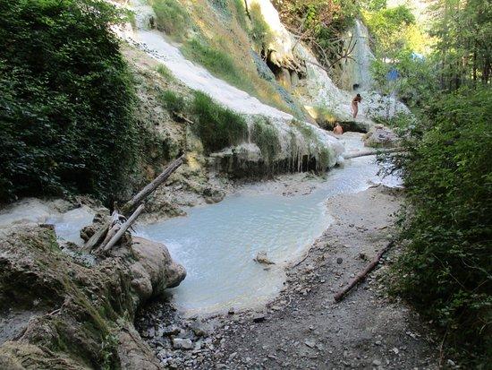 Bagni di San Filippo, Italy: una delle vasche