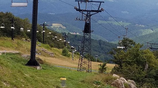 Beech Mountain, NC: The ride up and down.