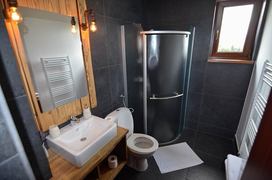 Toplita, رومانيا: Bathroom
