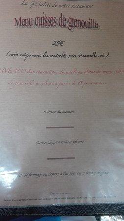 Saint-Paul-le-Jeune, France: Menu à 25 euro