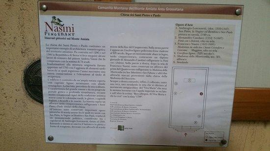 Roccalbegna, Italia: Pannello con notizie