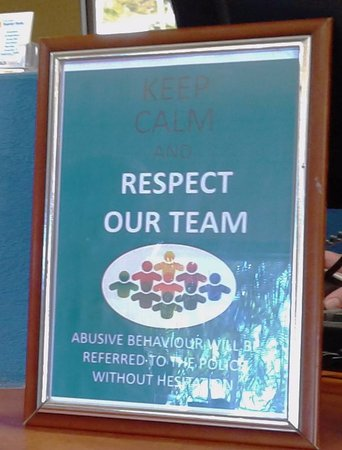 Palm Beach, Australia: Sign at reception