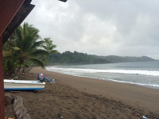 Osa Peninsula, Costa Rica: Verso S-O, alta marea, Pioggia