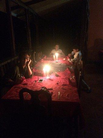 Osa Peninsula, Costa Rica: Si cena a lume di candela (se c'è blackout...)
