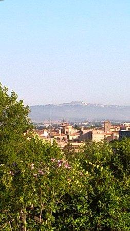 B&B Colle Verde: Montefiascone sullo sfondo delle mura di Porta Romana