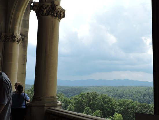 Beautiful mountain view off one of the many balconies @ Biltmore Mansion.