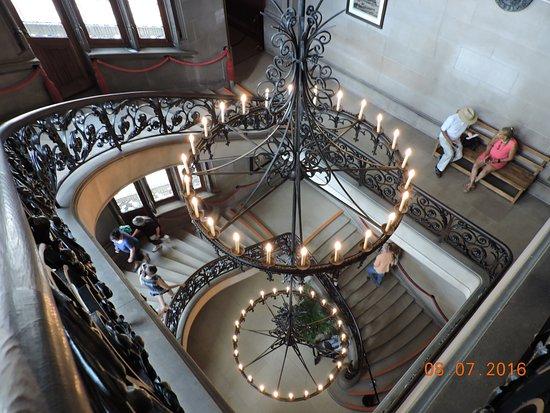 Biltmore Mansion ornate stairway.