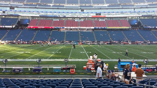 Foxboro, MA: View from my seat.