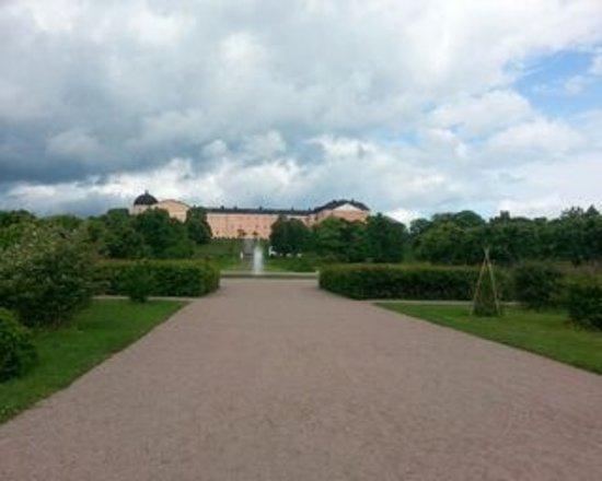 อุปซอลา, สวีเดน: Botaniska trädgården mot Uppsal slott