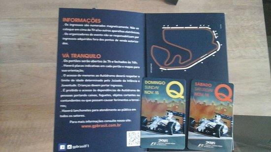 Interlagos Circuit: Los tickets