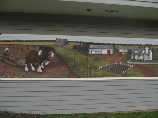 O'Leary, Канада: Fresque à l'extérieur du musée