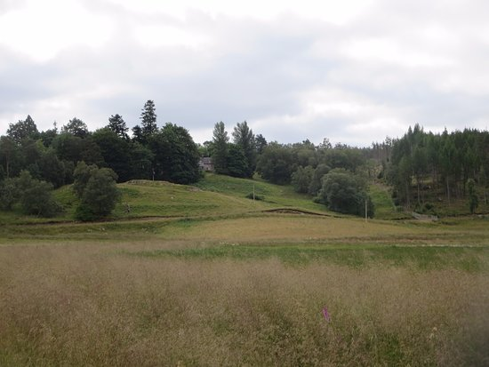 Kinlochlaggan, UK: Gallovie Farmhouse, view from afar