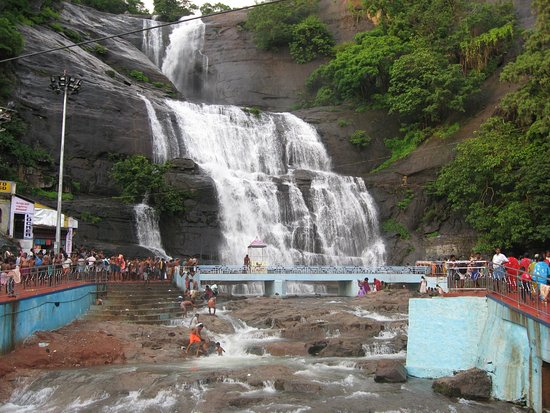 Courtallam, India: View of the Main falls