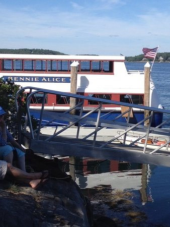 Boothbay Harbor, ME: The Bennie Alice - docked on Cabbage Island