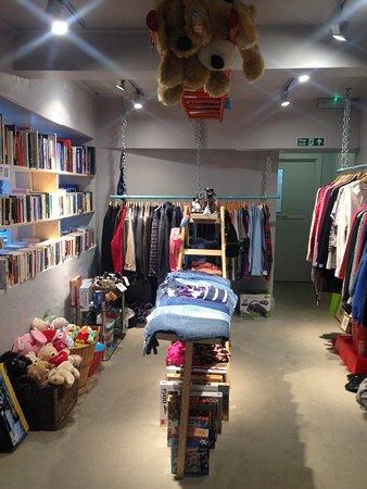 Otley, UK: Back of the shop