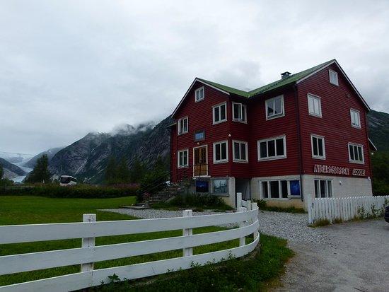 Jostedal, Norwegen: Lodge, vue sur Nigardsbreen