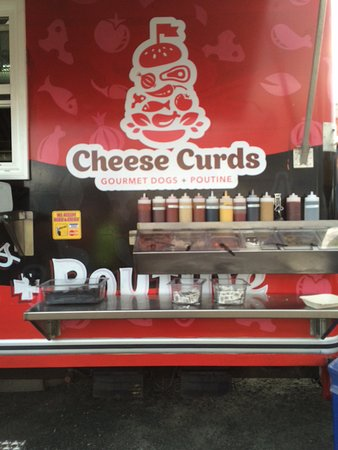 Dartmouth, Canada: The Food Truck's vast condiment collection.
