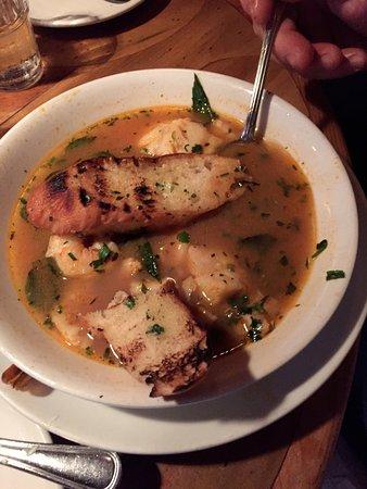 Peso's Kitchen & Lounge : Veracruzana 'Cioppino' with Sea Scallops, Gulf Prawns and Pacific Cod