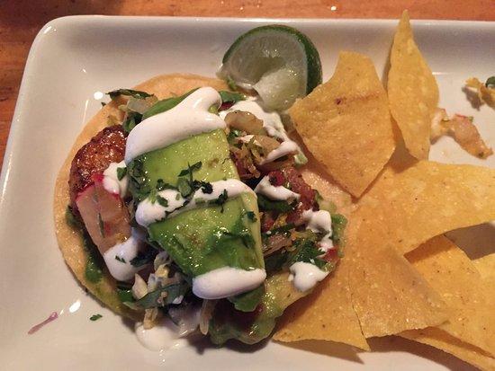 Peso's Kitchen & Lounge : Carnitas and Avocado 'Charmoula' Tostaditas (I had eaten 2 already)