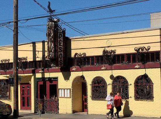Peso's Kitchen & Lounge : Street view... great iron work!