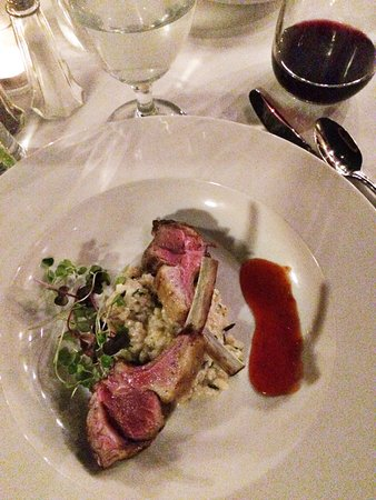 ทรอย, อลาบาม่า: 5 Course Wine Dinner, Summer: Lamb Chop with Mushroom Risotto