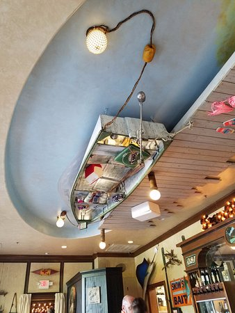 Picture of the ceiling above the bar at Puckett\'s Boat House ...