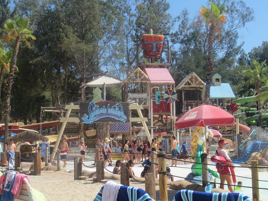 San Dimas, Californië: splash zone