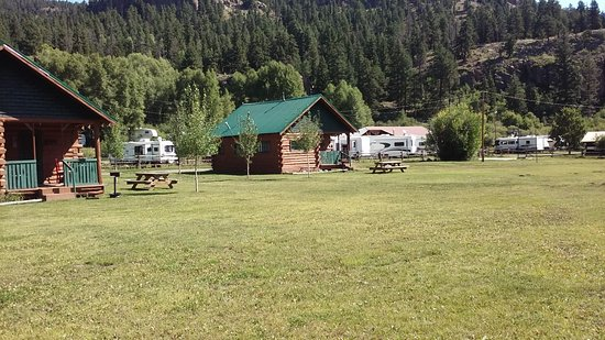 South Fork, CO: The larger view of Two of Our Cabins and the spacious area around them
