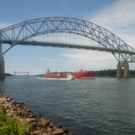 Buzzards Bay, MA: The Bourne Bridge across the Cape Cod Canal
