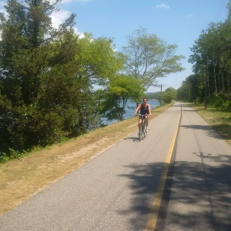 Buzzards Bay, MA: The bike trail along the Cape side of the Canal