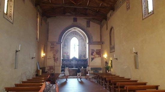 Pienza, Italie : Nawa główna kościoła